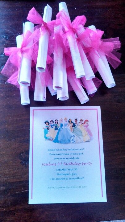 Step 1 of Disney princess party