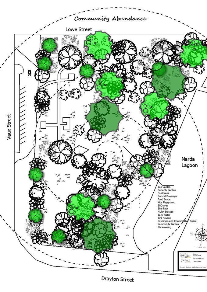 Concept design for the Forest garden on public land @ Savour Soil Permaculture
