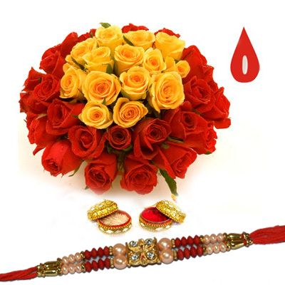 Rakhi is one of the festival of celebrating togetherness . Send Rakhi Combos Online Hyderabad to your brother which shows the eternal bonding between both of you . Present him a splended rakhi with a colourful threading work and provided with a kundanas and stone design . Along with rakhi send him a pretty flowers that wishes his good career and well being through Shop2Hyderabad.com .