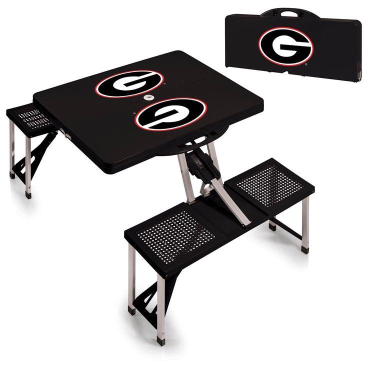 Marvelous Picnic Table   University Of Georgia Bulldogs