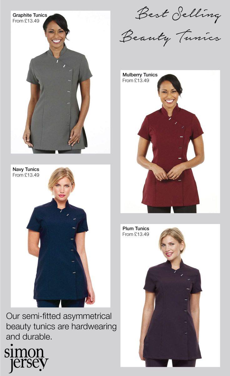 Best selling asymmetrical beauty tunics beauty therapist - Beauty salon uniforms ...