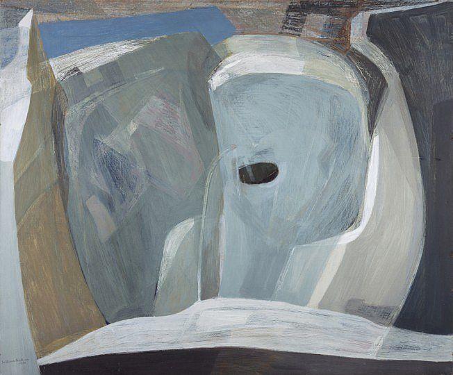 Wilhelmina Barns-Graham (British, B.1912), Glacier Chasm, 1951. Oil on canvas…
