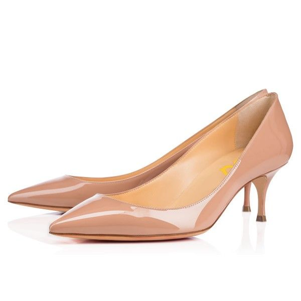 Women S Blush Pointy Toe Patent Leather Kitten Heels Pumps For Work Formal Event D Red Bottom Heels Christian Louboutin Christian Louboutin Kitten Heel Pumps