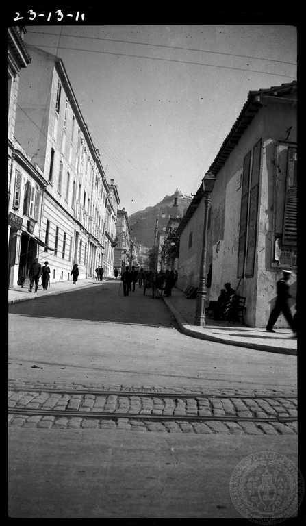 Athens. Homer street 1925; Dorothy Burr Thompson.