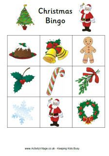 Christmas In July Activities | Printable Christmas Bingo Game For Kids