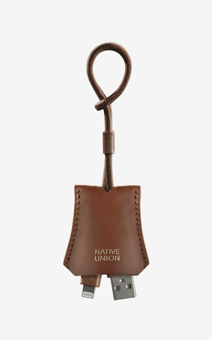 Native Union Tag Cable Leather Pouch Tan