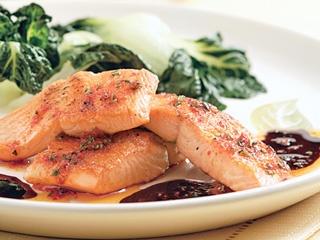 Saumon érable-balsamique rôti au four