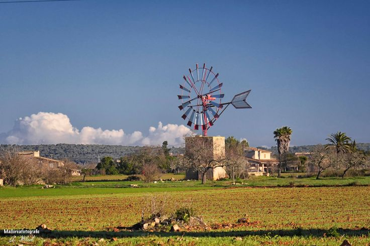 Windmill in Campos, Mallorca, Spain