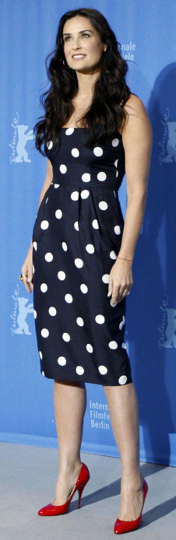 demi-moores-polka-dots voor de diep-koele vrouw