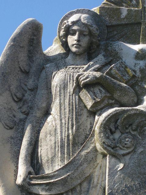 Detail of An Angel Headstone - Melbourne General Cemetery, Carlton Melbourne  by raaen99, via Flickr