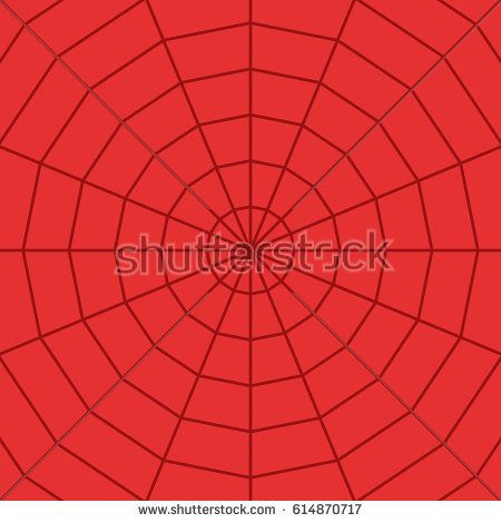 Red Spider Web Cobweb Isolated On Background Vector Background
