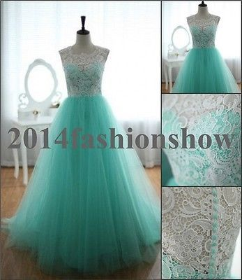Elegant Mint Prom Dresses Lace Long Evening Formal Gowns Quinceanera Dresses New#yassssssssssss!!!