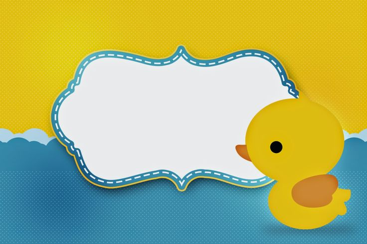 Rubber Ducky: Free Printable Invitations.