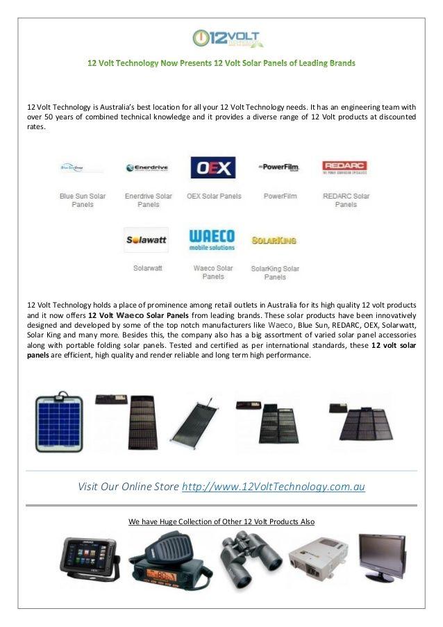 12 volt technology presents 12 volt solar panels of leading brands by Tony Munro via slideshare