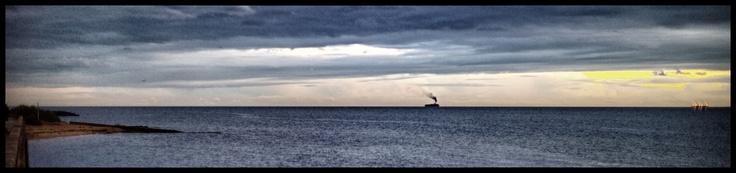 Ship sailing from Port Philip Bay