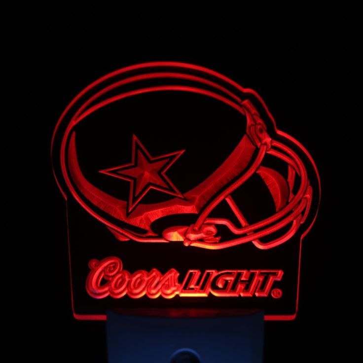 "Dallas Cowboys Coors Light 4"" by 4"" LED Night Sensing Light"