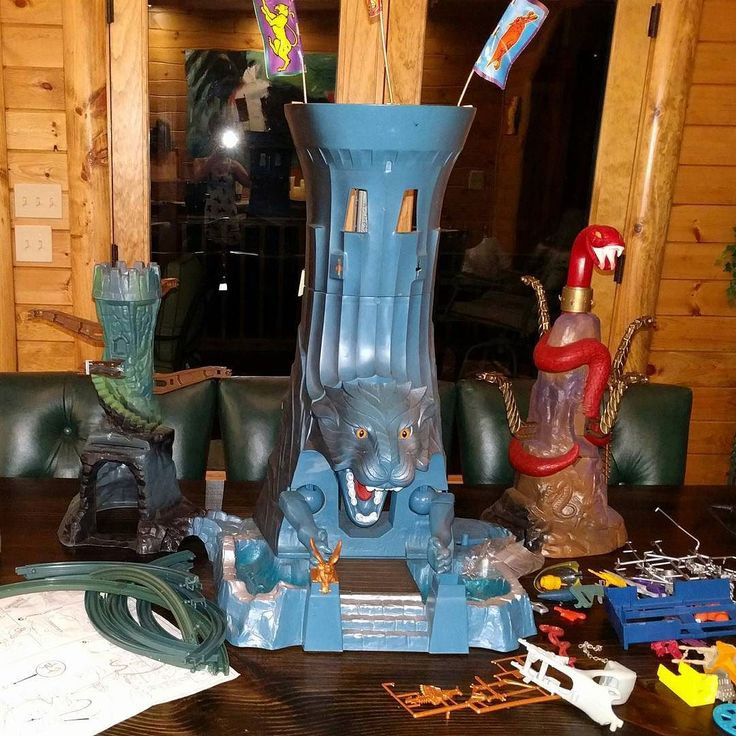 "Current project: Building the Eternia Monorail Playset!  Masters of the Universe ""The Towers of Eternia"" made by Mattel in 1986  This set is easily considered to be ""The Holy Grail"" of He-Man/MOTU collecting.  I own this set along with tons of figures Snake Mountain Castle Grayskull and She-Ra's Crystal Castle.  So many small pieces but seeing it all together will be incredible. I'll keep you all updated. Once it's as complete as possible and I can properly detail all flaws it'll be up on…"