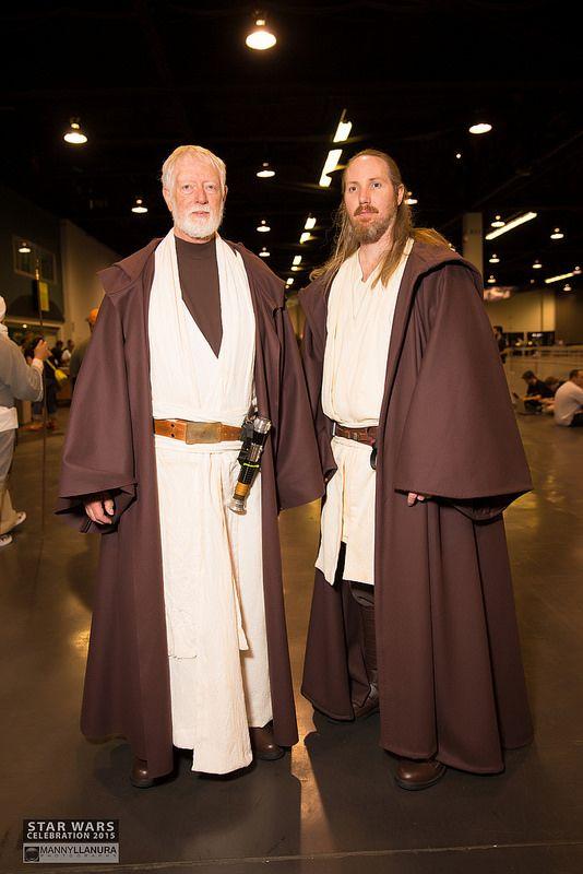 Old Ben and Qui Gon Jinn at Star Wars Celebration 2015