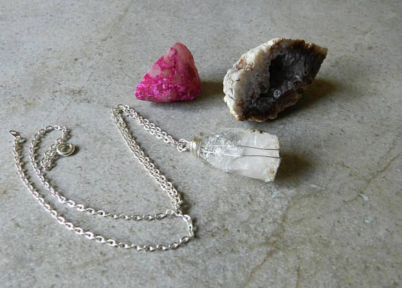 Petalite Crystal Necklace Healing Crystal Jewelry Boho Stone