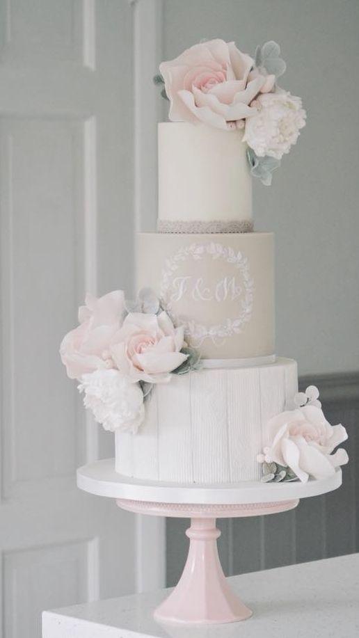 Empfohlene Hochzeitstorte: Baumwolle & Krümel; www.cottonandcrum …; Hochzeitstorte Idee.   – Wedding Cakes