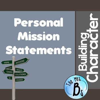 Building Character   Creating A Personal Mission Statement