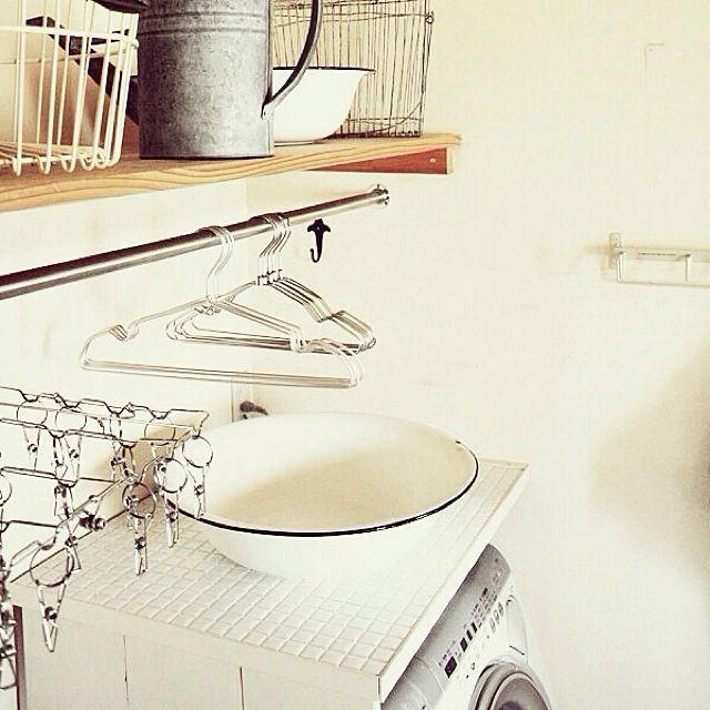 バスルーム 洗濯機周り 洗濯機のまとめページ   RoomClip (ルームクリップ) バスルームと洗濯機周りと洗濯ネットのインテリア実例