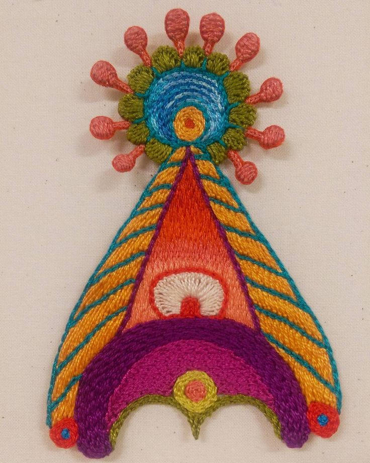 A bright and happy friend to start the new year (: . . . #textileart #colorgasm #sewing #contemporaryart #new #art #eatenkate #embroidery #studiolife #contemporarycraft #stitching #sweden #crafts #konsthantverk #tambour #stitchersofinstagram #embroiderersofinstagram #feelingstitchyig #swedish #fiberart #fiberartsweden #needlecraft #konst #kunst #taide #borduren #broderi #dutchartist #dutchart