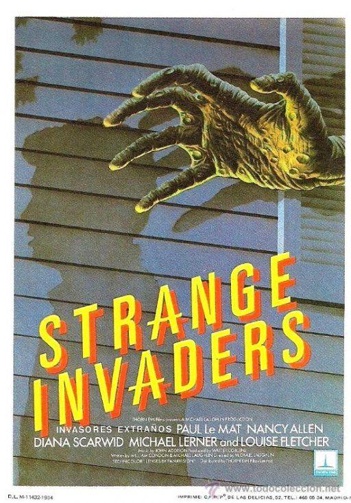 Extraños invasores (1983) Título original: Strange Invaders (EE.UU.) Género: Películas > Terror / Misterio / Ciencia ficción Director: Michael Laughlin. Duración: 92 minutos.