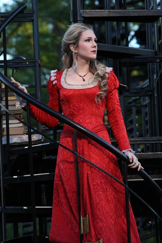 Lily Rabe as Portia. Public Theater Shakespeare in the Park, 2010