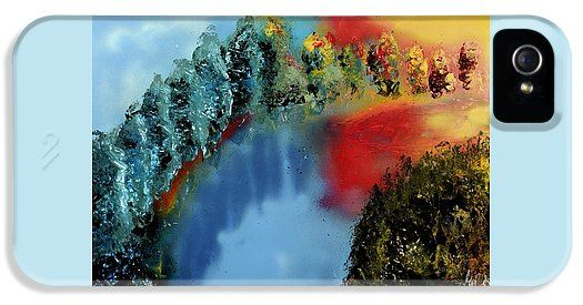 River Of Colors IPhone 5 / 5s  Case Printed with Fine Art spray painting image River Of Colors by Nandor Molnar (When you visit the Shop, change the orientation, background color and image size as you wish)