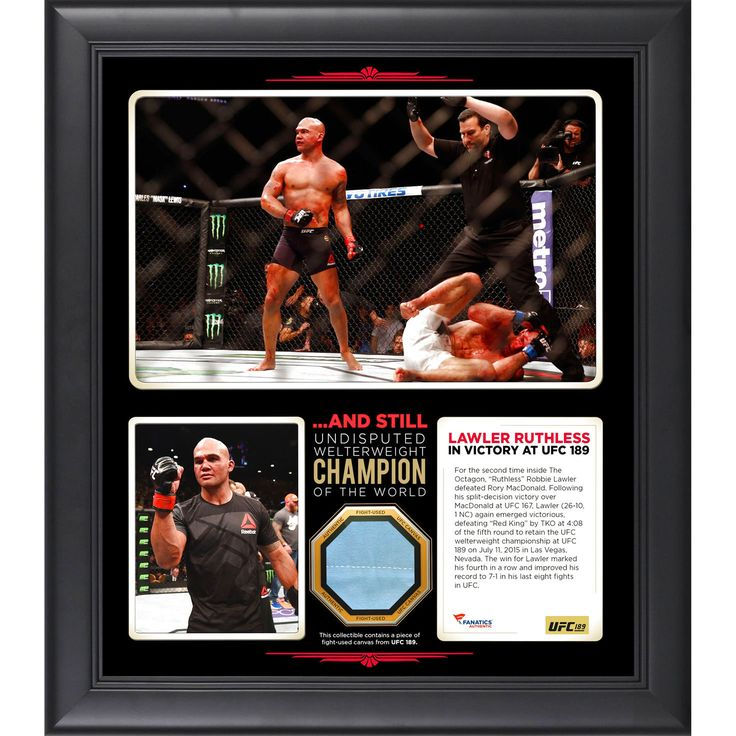 Robbie Lawler Ultimate Fighting Championship Fanatics Authentic Framed 15'' x 17'' UFC 189 And Still Welterweight Champion Collage with a Piece of Canvas From UFC 189 - $71.99