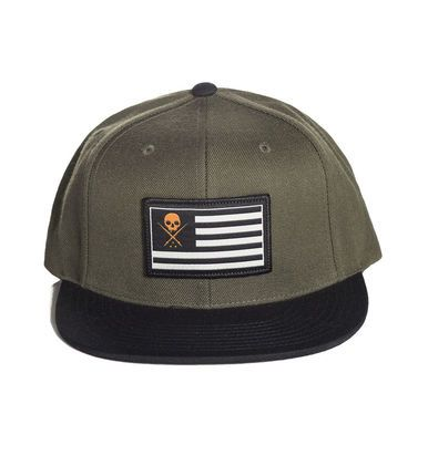 Sullen Pride Snapback Hat Cap Flag Goth Punk Tattoo Art Green Biscuit SCA1043