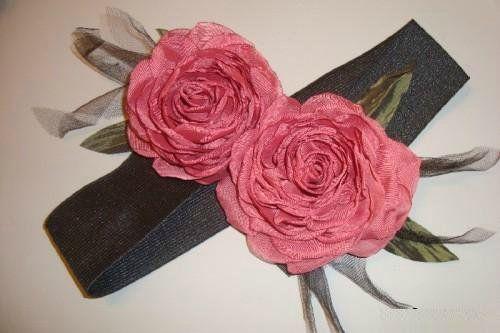 Шьем модный пояс с цветком из органзы. Мастер-класс