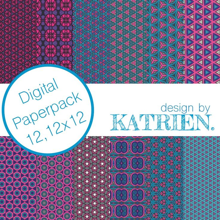 Digitale papier Pack, digitale Scrapbook papier, digitale patronen, Instant download, roze en blauw (0008) door DesignbyKatrien op Etsy https://www.etsy.com/nl/listing/516409181/digitale-papier-pack-digitale-scrapbook