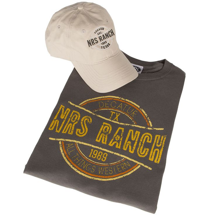 NRS Ranch Grey/Cream Cap/Tee Combo