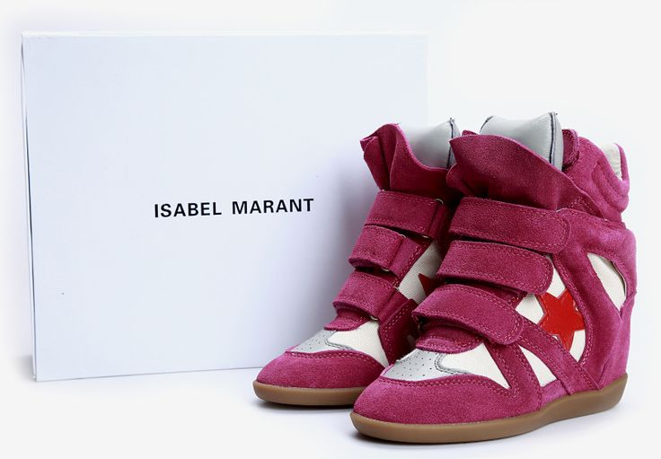 Isabel Marant Star Sneakers High Top Suede Leather Purple $299.00 http://www.marantoutlet.com/cheap-isabel-marant-star-sneakers-high-top-suede-leather-purple_9.html