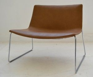 Interiors - Provenance Auction House: An Arper of Italy Catifa 80 Leather Chair.