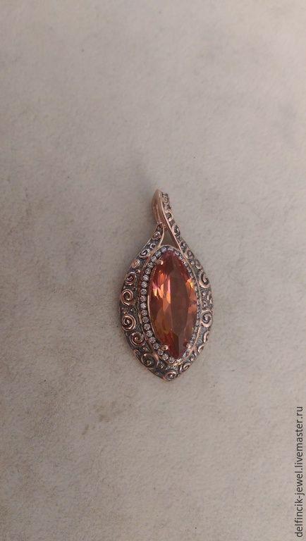 Купить Кулон из серебра с султанитом в-османском стиле - разноцветный, султанит, кольцо с султанитом, купить с султанитом