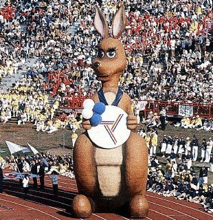1982 Commonwealth Games in Brisbane.  I was there for the dress rehearsal of the opening ceremony.