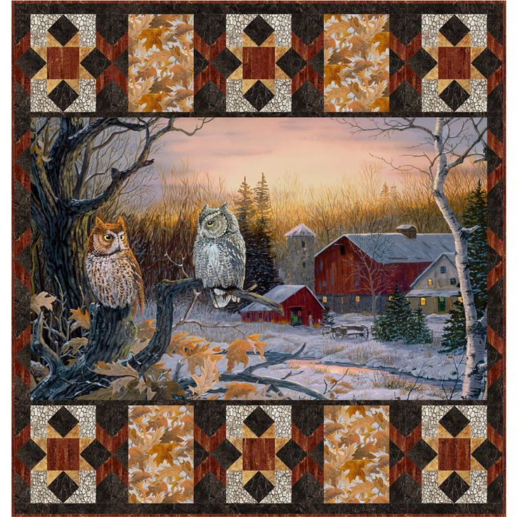 Evening Stars Kit Wildlife Quilts Fabric Panel Quilts