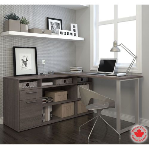 Bestar – Solay Gray L-Shape Desk | Costco $300 #office