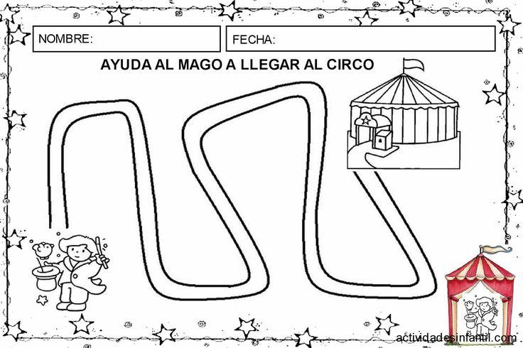 Ayuda al mago a llegar al circo de las actividades