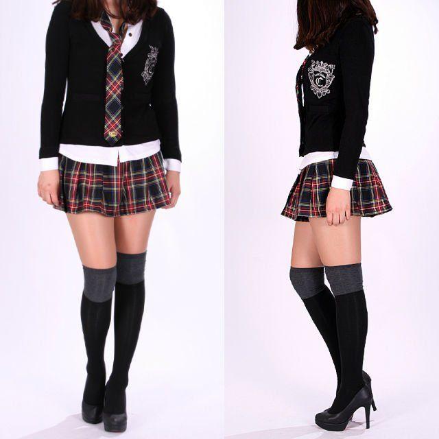 School Girl Mini Skirt | ... & tartán sexy comprobar a cuadros de colegiala plisado falda mini