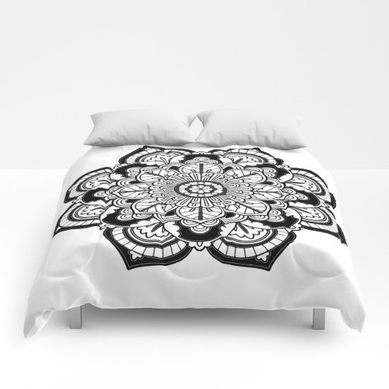 #Big #Super #awesome #Christmas #Sales @ my #society6 store #Xmas 25% OFF + FREE WORLDWIDE SHIPPING ON EVERYTHING https://society6.com/product/black-and-white-flower-hv4_comforter#s6-4649231p57a200v701