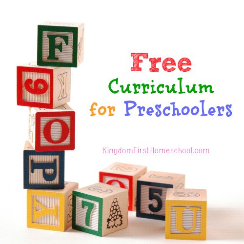 Preschool can be pricey!  Teach your preschooler at home with one of these Free Curriculum for Preschoolers options.  It's way easier than you think.