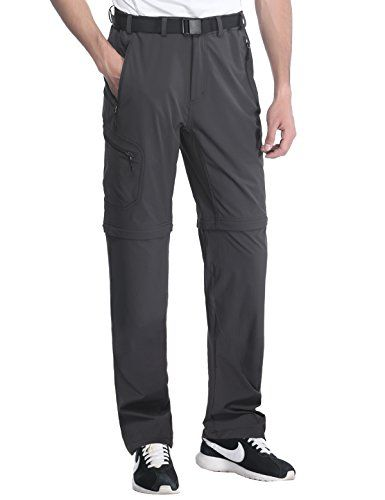 b86835a7 MIERSPORTS Men's Outdoor Cargo Pants Quick Dry Convertible Pants for Travel  Hiking Climbing, Water Resistant