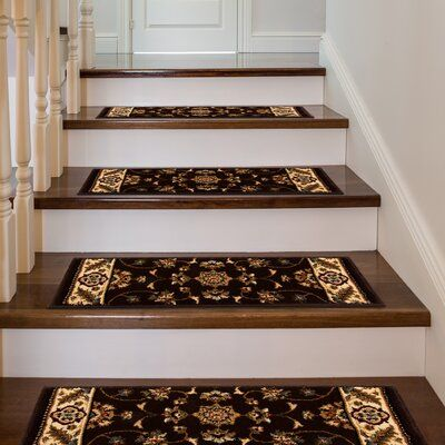 Best Astoria Grand Ryley Stair Tread Color Black With Ivory 400 x 300