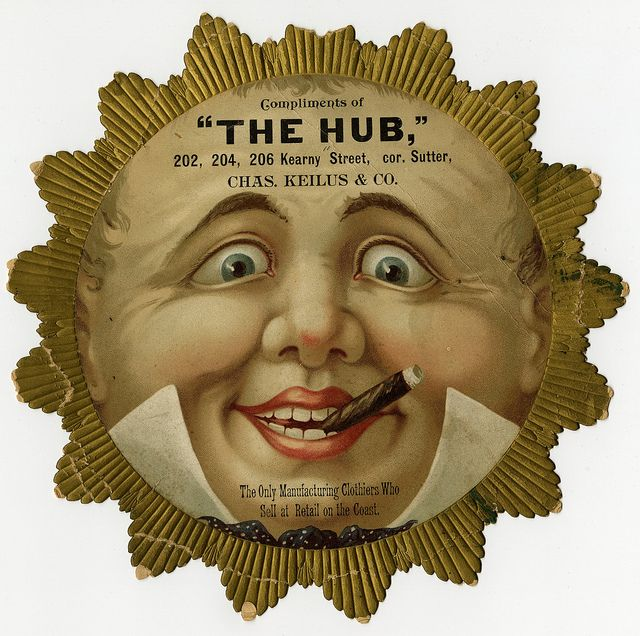 "Advertisement for ""The Hub"" clothing store 