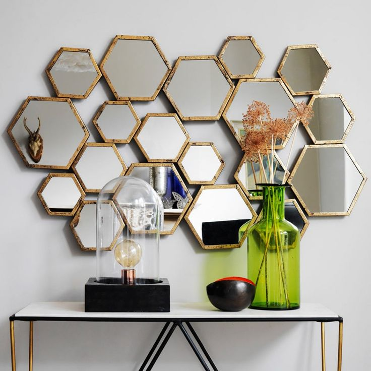 Honeycomb Mirror, Graham & Green £195