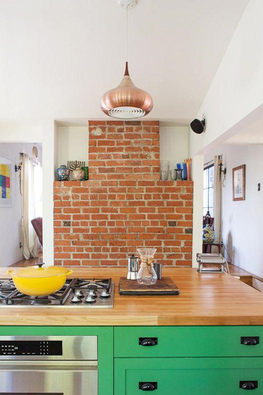 green kitchen cabinets / bestor architecture
